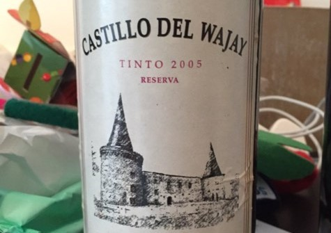 Bottle of Castillo del Wajay Cuban wine