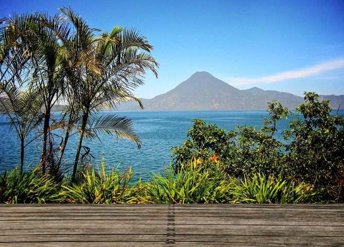 Terrace view over Lake Atitlan