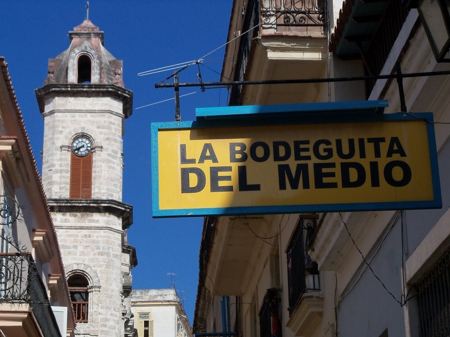 Bodeguita Del Medio Bar Sign