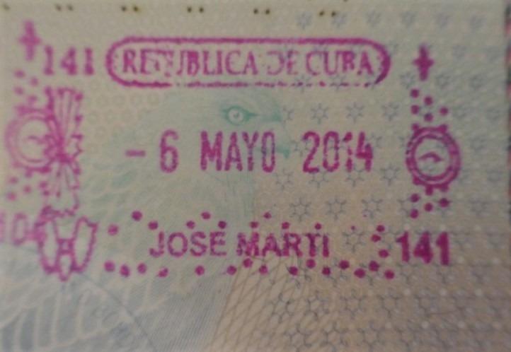 Cuba visa stamp