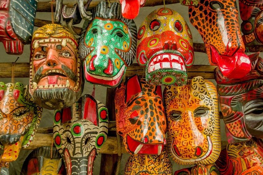 Traditional Guatemalan masks