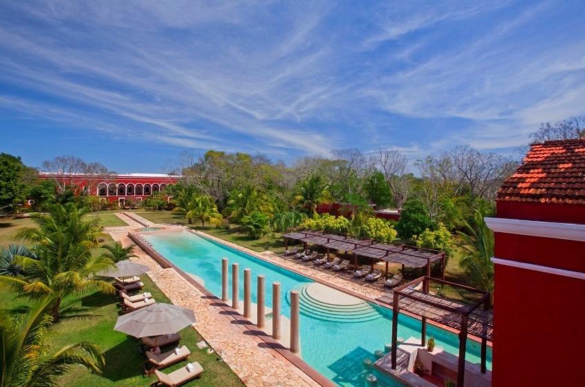 Swimming pool at Hacienda Temozon