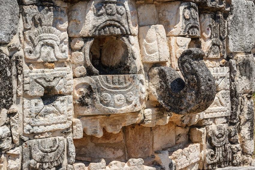 Carving detail at Mayapan