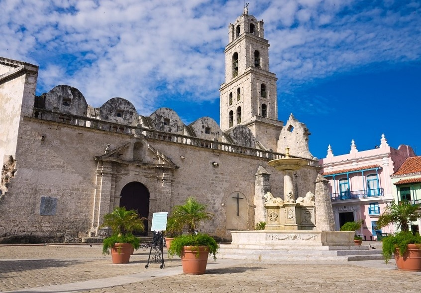 Cathedral in Plaza San Francisco, Havana