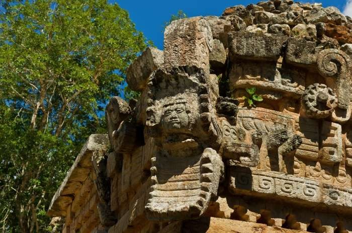 Stone carving in the Puuc Hills