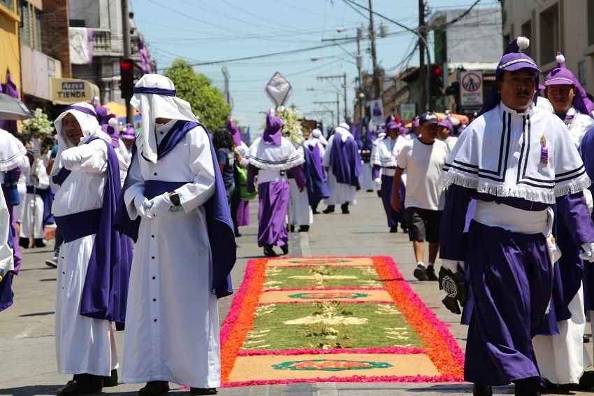 Street procession during Semana Santa