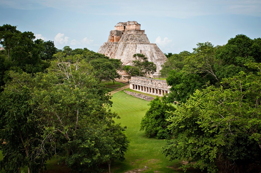 Main pyramid at Uxmal