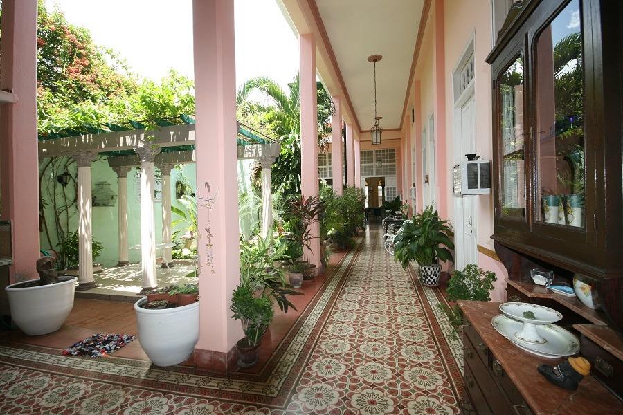Tiled corridor of casa particular