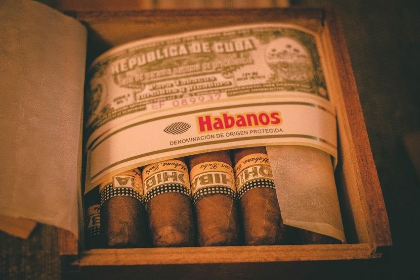 Box of Habanos Cuban cigars