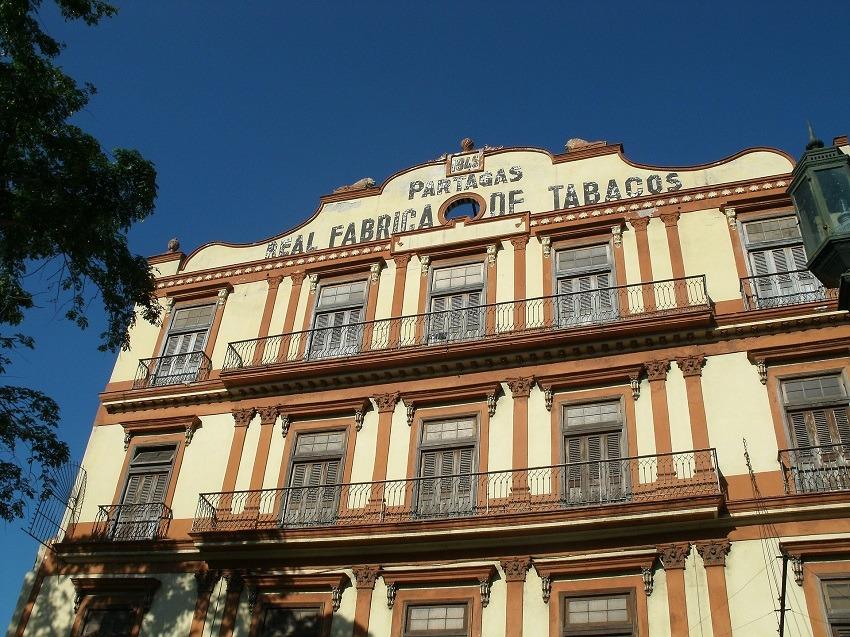 Exterior of the Partagas Cigar factory in Havana