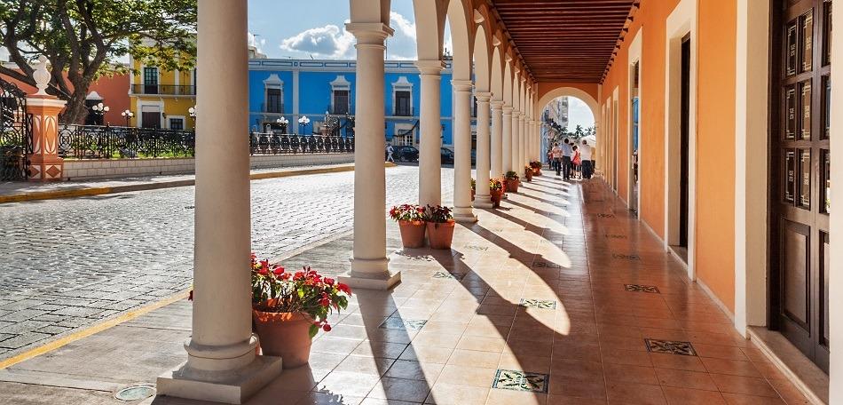 Main square in Campeche