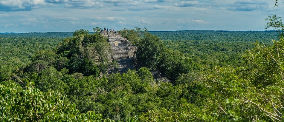 Huge Mayan pyramid at Calakmul