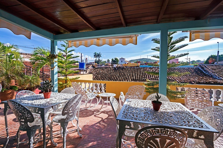 Roof terrace at Casa Magdalena