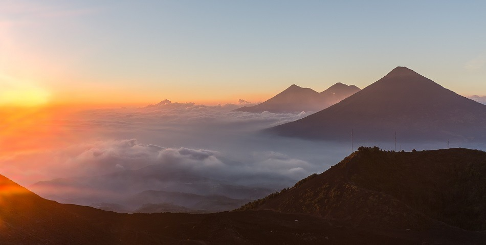 Climbing volcanoes in Guatemala