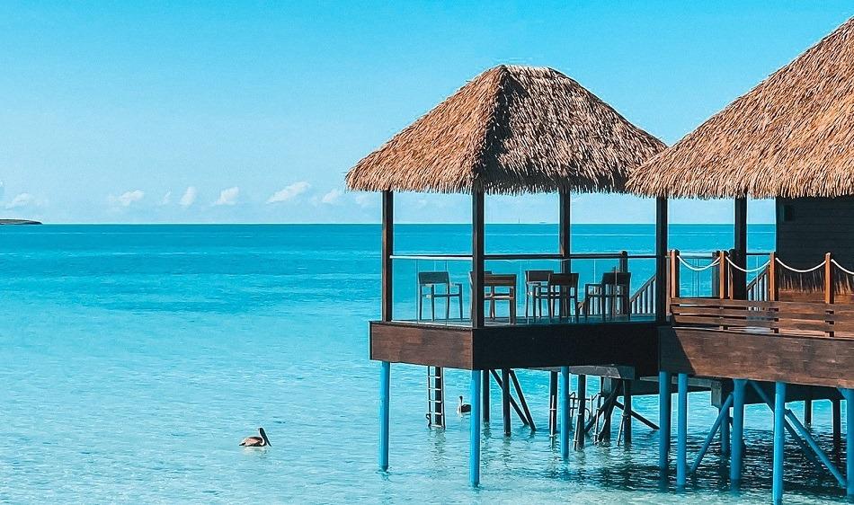 Luxury beach hotel in Cuba