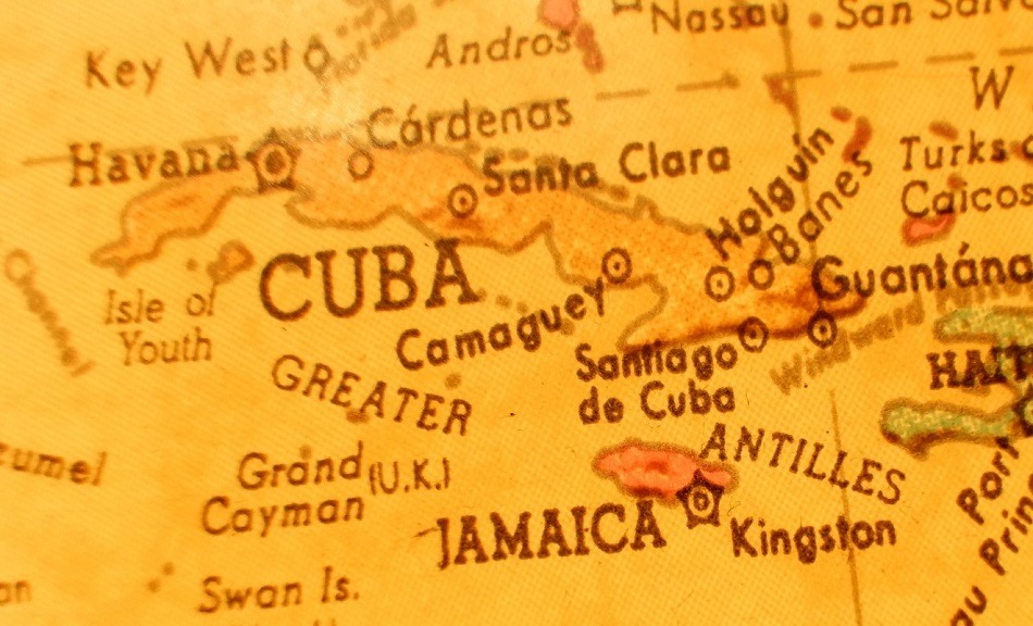 Old map of Cuba