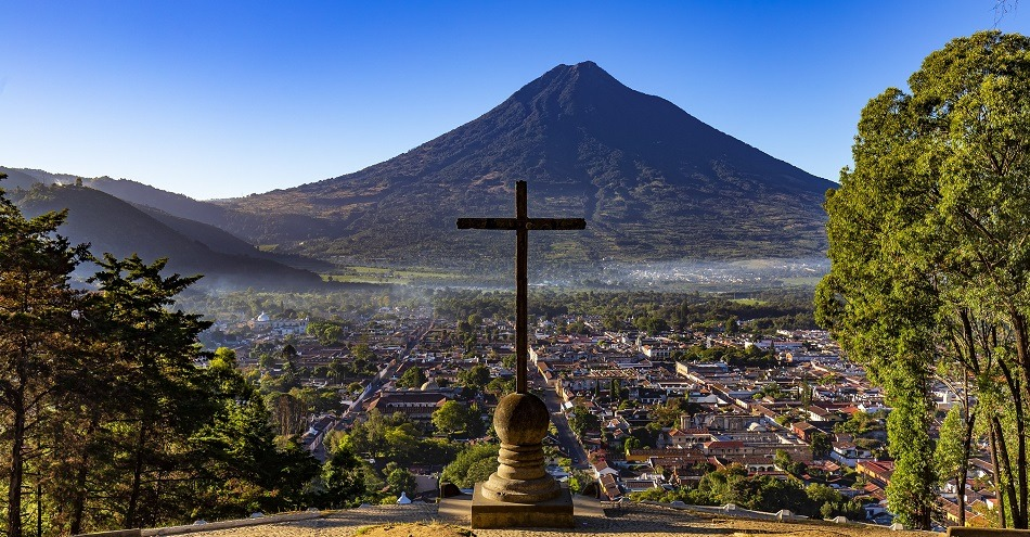 View over Antigua in Guatemala
