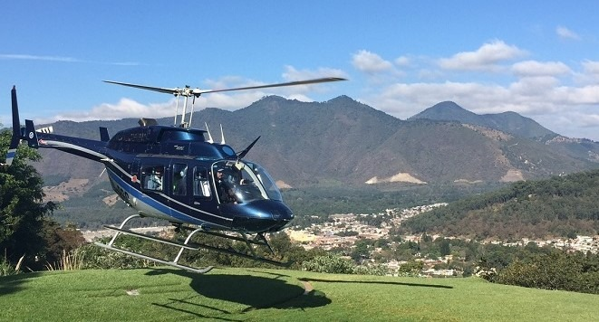 Helicopter travel in Guatemala