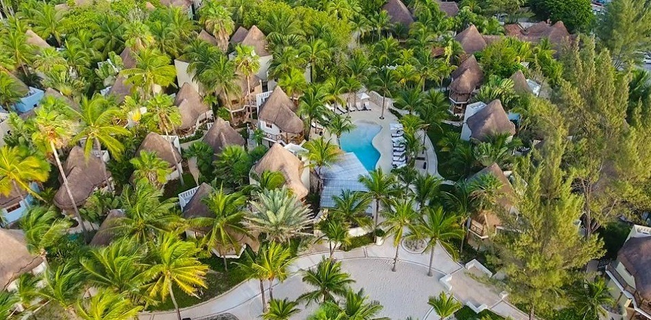Aerial view of Mahekal Beach Resort