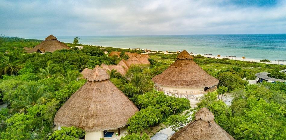 Xixim hotel Celestun beach