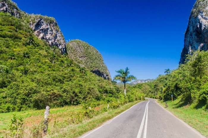 One of the best drives in Cuba, through the Vinales Valley