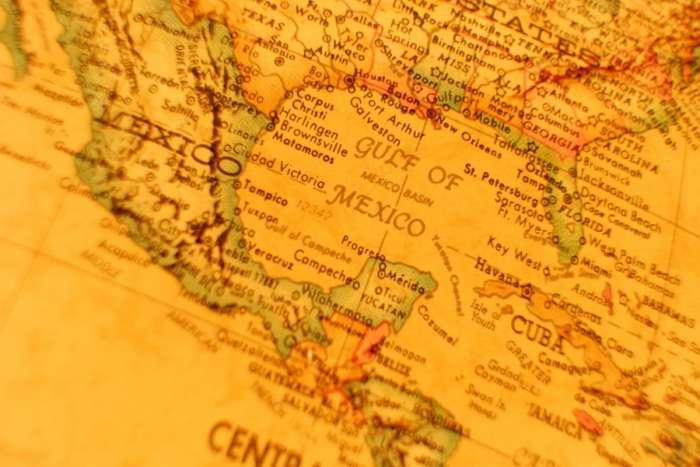 Vintage map of Guatemala