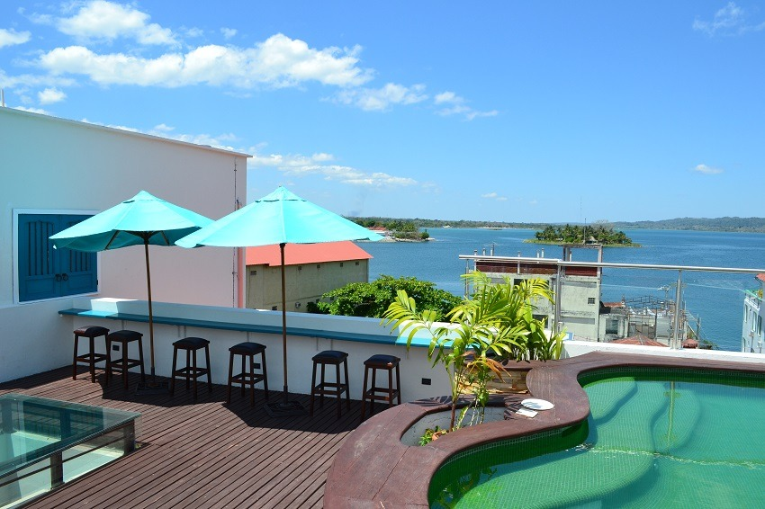 Rooftop view from Hotel Isla De Flores Guatemala