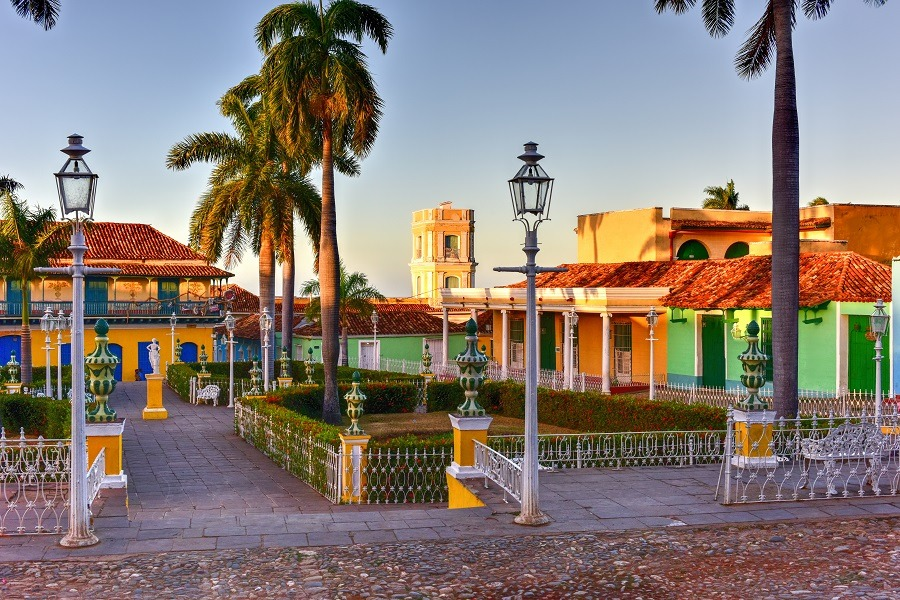 Plaza Mayor in Trinidad, Cuba