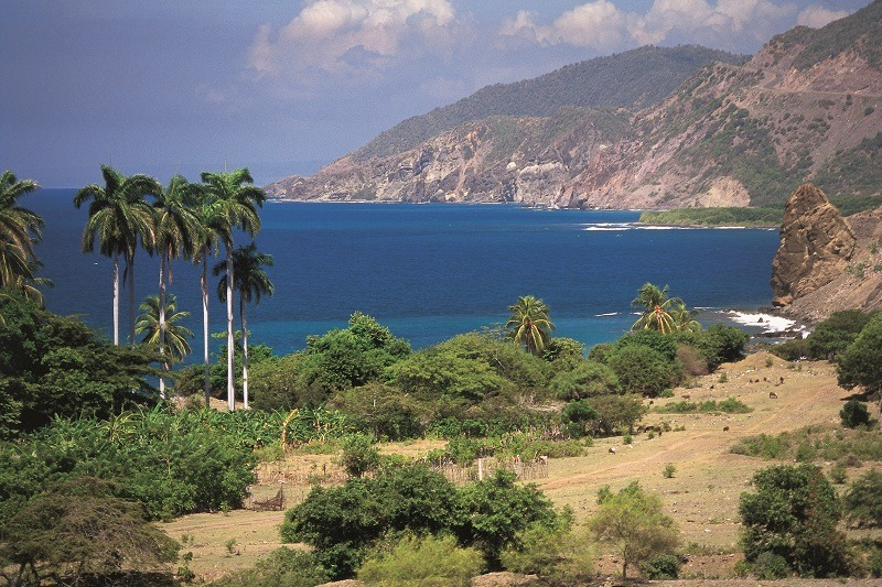 The coastal route from Santiago de Cuba to Marea del Portillo