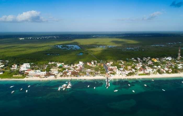 Aerial view of Puerto Morelos