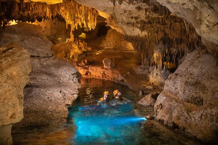 Underwater cave at Xcaret