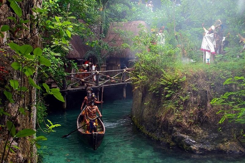 Replica Maya village at Xcaret