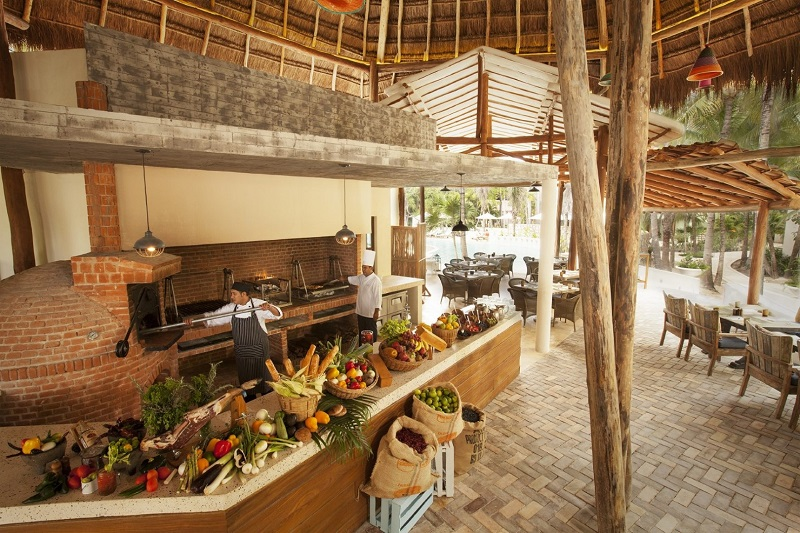 Palapa restaurant at Mahekal Beach Resort in Playa del Carmen