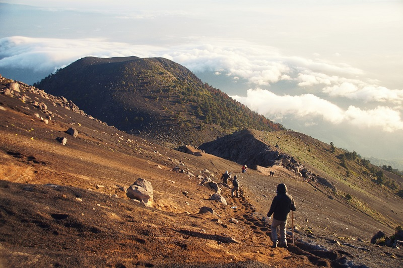 Acatenango volcano in Guatemala