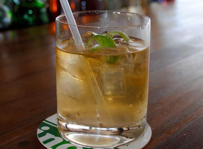 Cuban rum cocktail