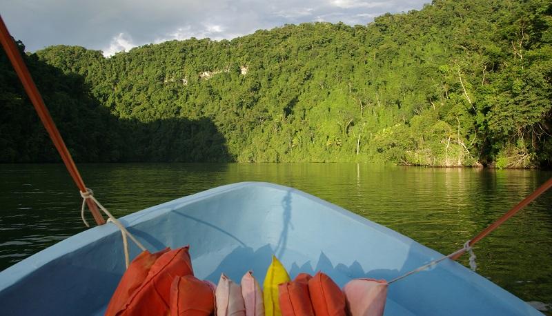 Boat on the Rio Dulce in Guatemala
