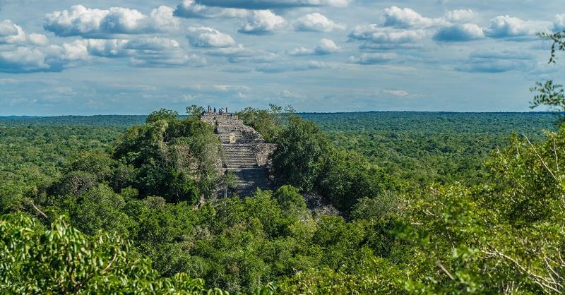 The Mayan ruins of Calakmul in the south of the Yucatan Peninsula