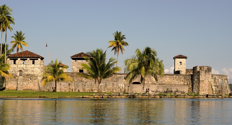 Castillo San Felipe De Lara at the entrance to Lake Izabal