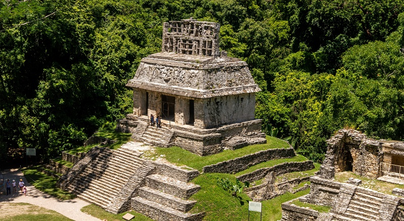 The ruins of Palenque in Chiapas