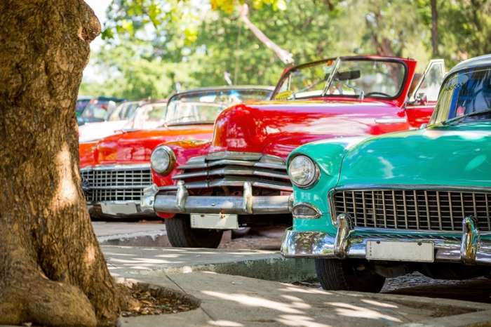 Classic cars in Havana on a Cuba summer holiday