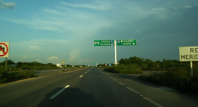 Highway 180 between Cancun and Merida in the Yucatan Peninsula