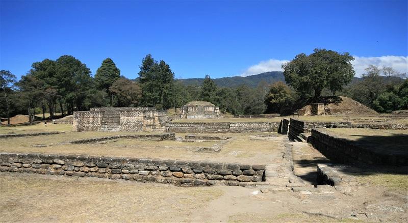 Iximche ruins on the Ruta Maya