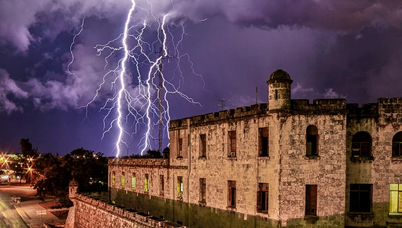 Lightning over Havana, Cuba