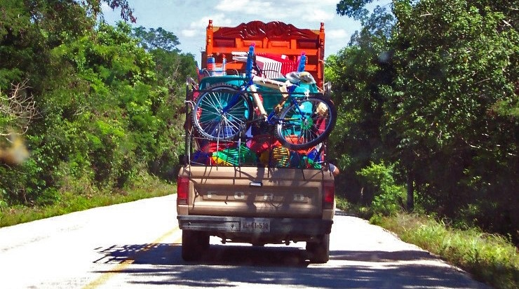 Road traffic in the Yucatan Peninsula