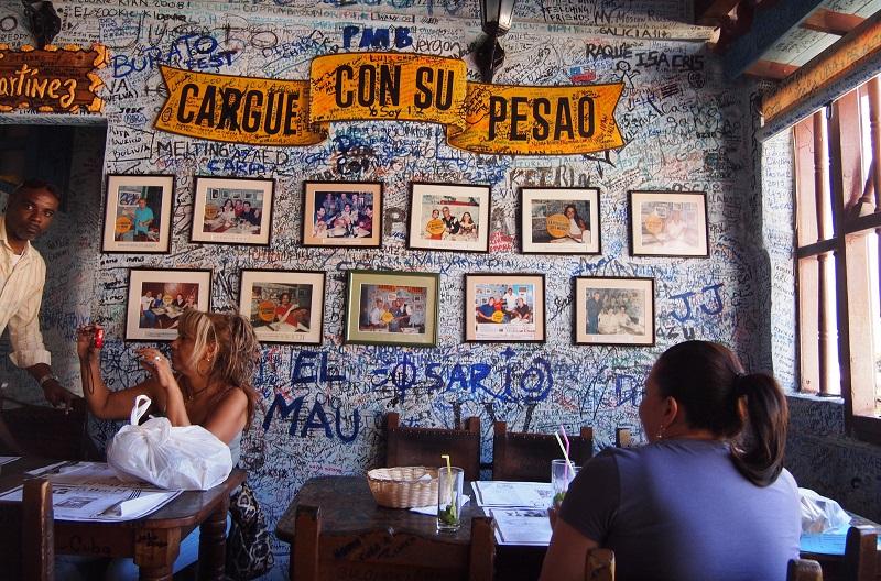 Bar interior at Bodeguita Del Medio