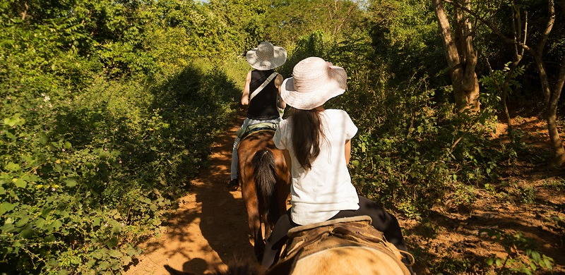 A horseriding tour in Vinales, Cuba