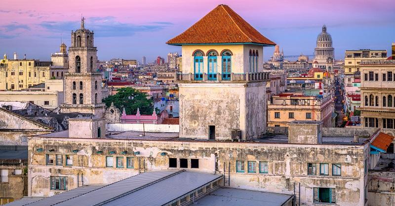 Rooftop view of Old Havana
