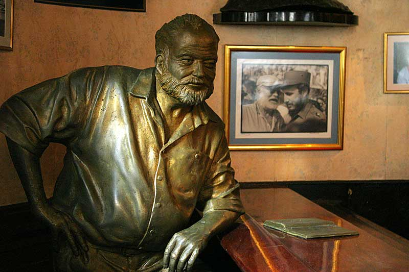 Bronze statue of Ernest Hemingway