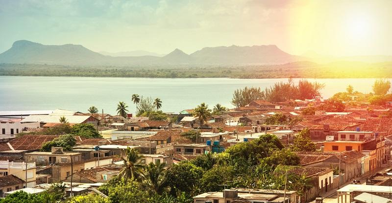 Sunset over Gibara town