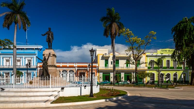 The main plaza in Matanzas, Cuba